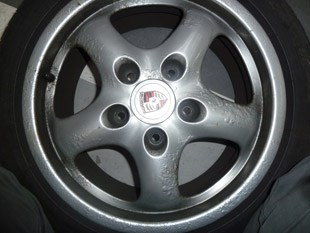 Wheel Before Alloy Wheel Treatment